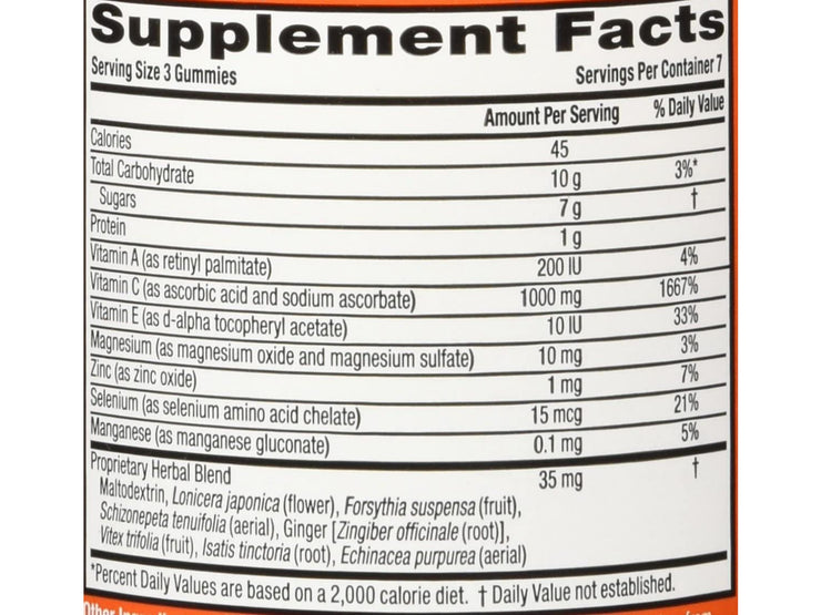 Airborne Orange Flavored Gummies, 21 count