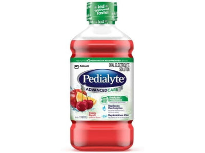 Pedialyte Advanced Care Oral Electrolyte Solution, Cherry Punch - 33.8 oz