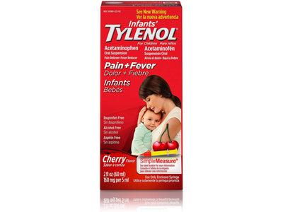 Infants' Tylenol (Acetaminophen) Liquid, Cherry, 2 fl. oz
