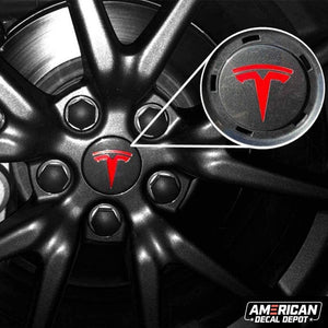American Decal Depot | Tesla Model 3 Exterior Logo Decal Bundle (Gloss Red) | Free Tools