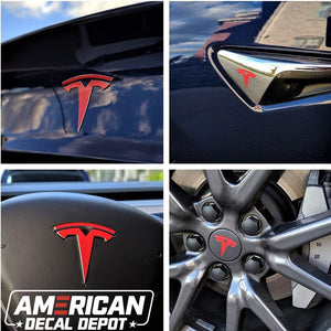 Tesla Model 3 Logo Decal Wrap Kit