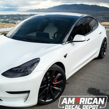 Load image into Gallery viewer, Tesla Model 3 Chrome Delete | Comes with 2 Full Black Out Kits | Tesla Model 3 Accessories Made with Automotive Vinyl and Designed in The USA (Satin Black)