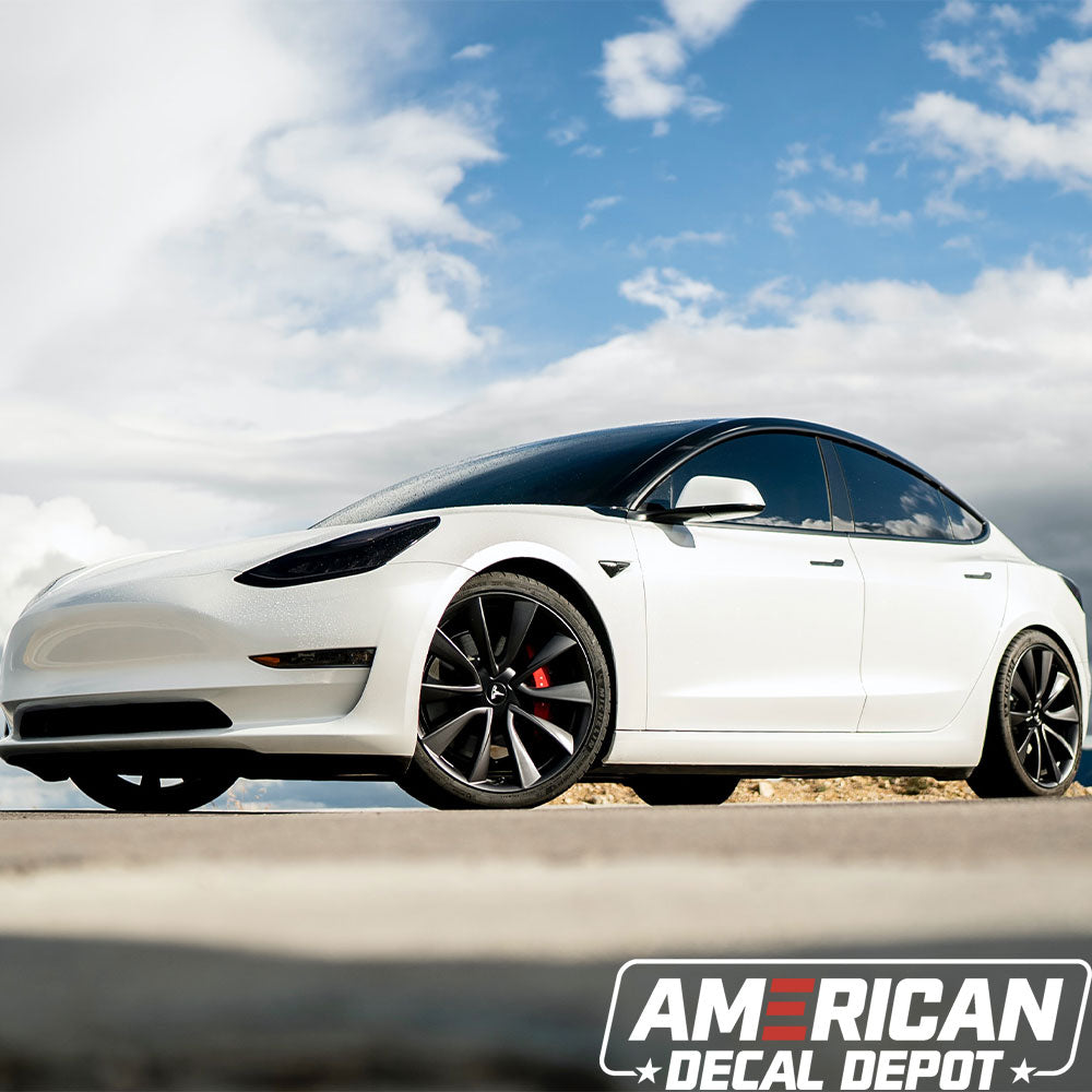 Tesla Model 3 Chrome Delete | Comes with 2 Full Black Out Kits | Tesla Model 3 Accessories Made with Automotive Vinyl and Designed in The USA (Satin Black)