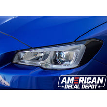 Load image into Gallery viewer, Headlight Amber Delete With Eyelid Vinyl Overlay - Gloss Black | 2015-2017 WRX/STI | 2018-2020 WRX/WRX