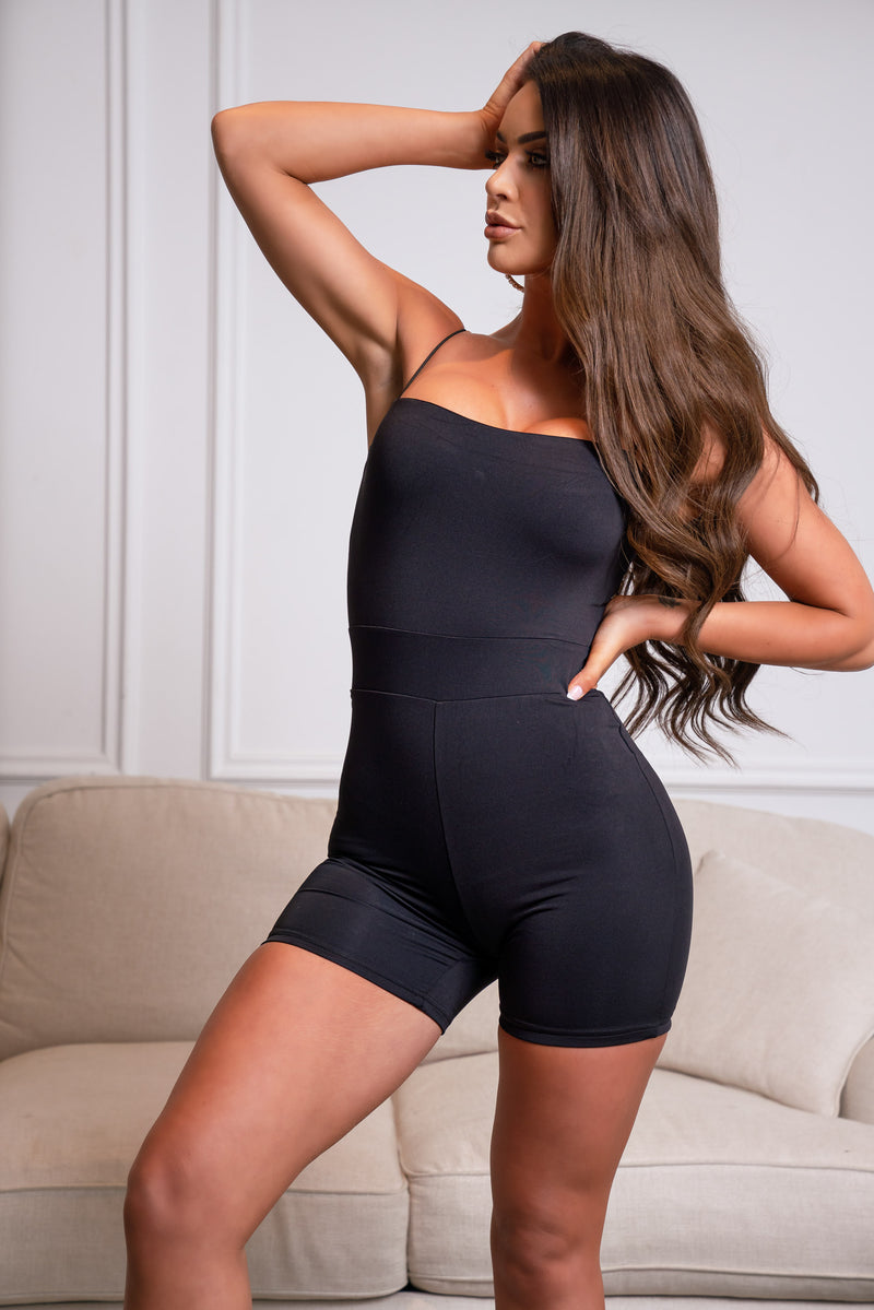 GENESIS PLAYSUIT BLACK