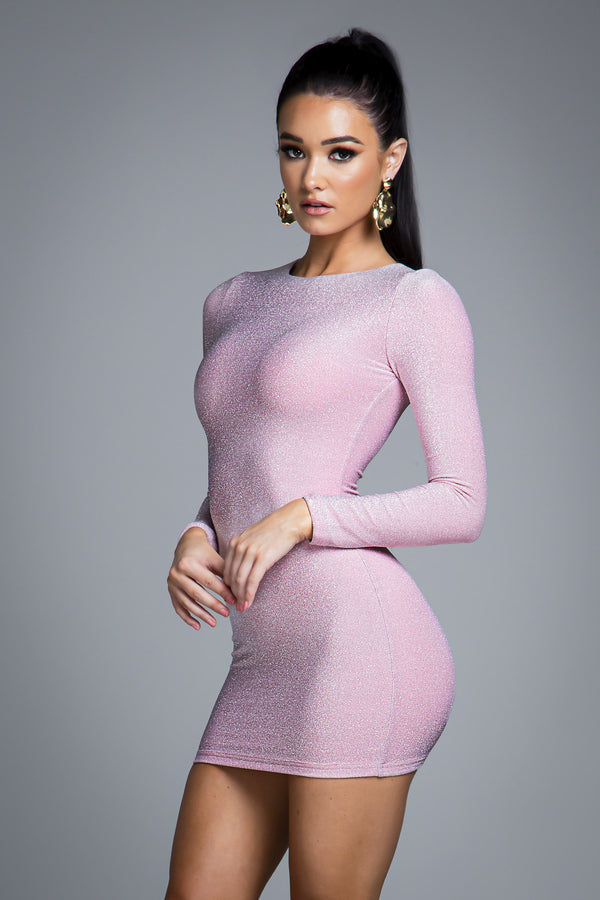 FRESSIA DRESS PINK SPARKLE