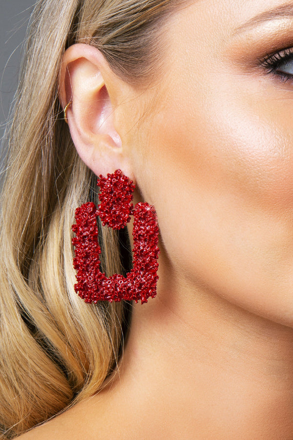 KILA EARRINGS RED