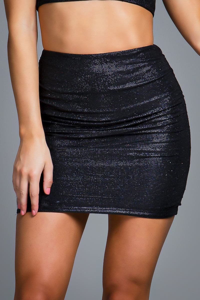 GRACE SKIRT BLACK SPARKLE