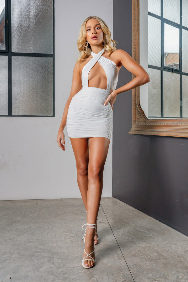 NATALIE DRESS WHITE