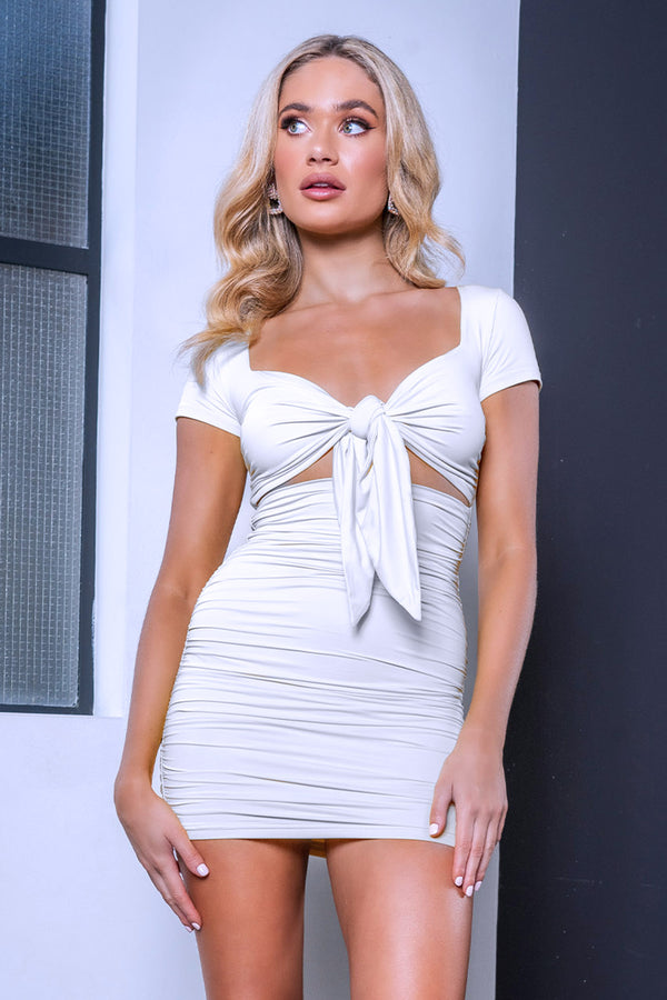 KYLIE DRESS WHITE