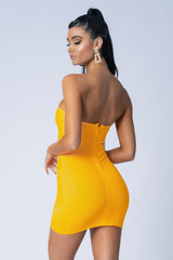 MAYA BANDAGE DRESS ORANGE