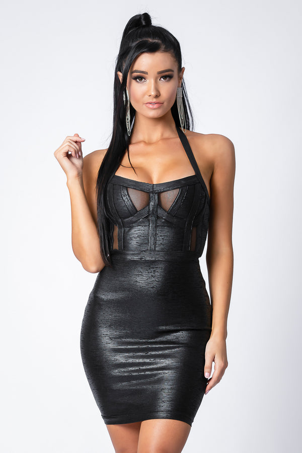 AVA BANDAGE DRESS BLACK