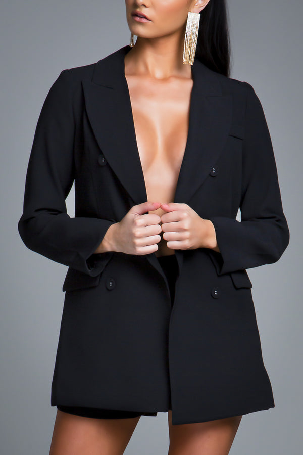CHLOE BLAZER JACKET BLACK