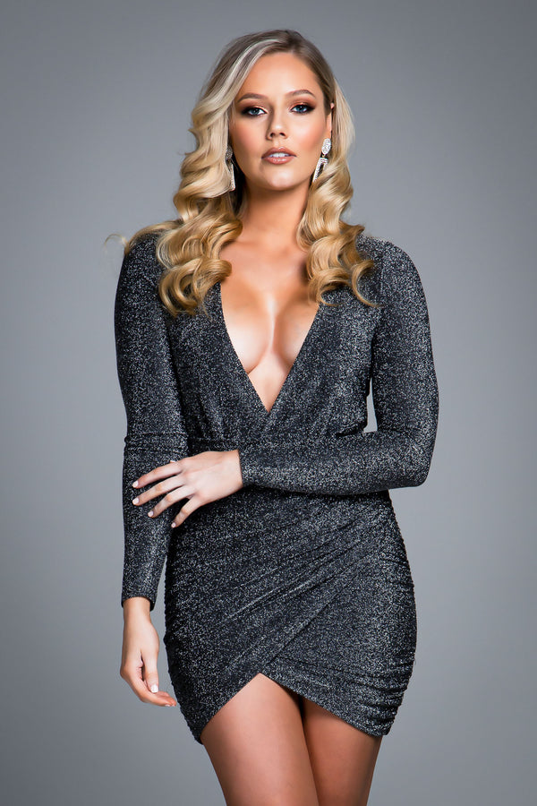 ELLA DRESS BLACK SPARKLE