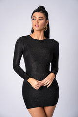 FRESSIA DRESS BLACK SPARKLE