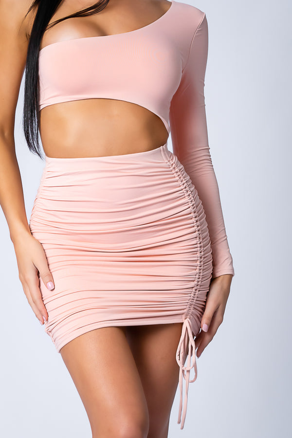 ORIANA DRESS BLUSH