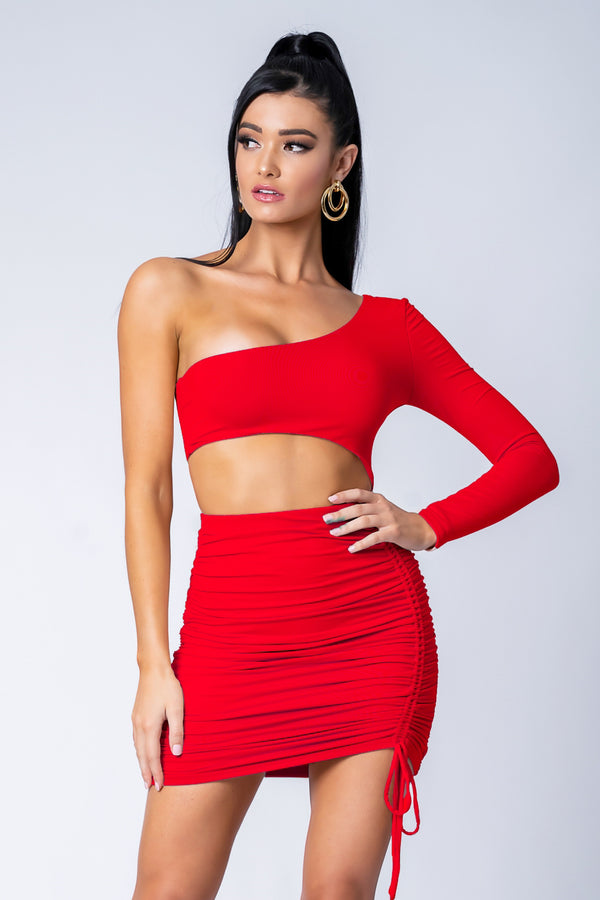 ORIANA DRESS RED