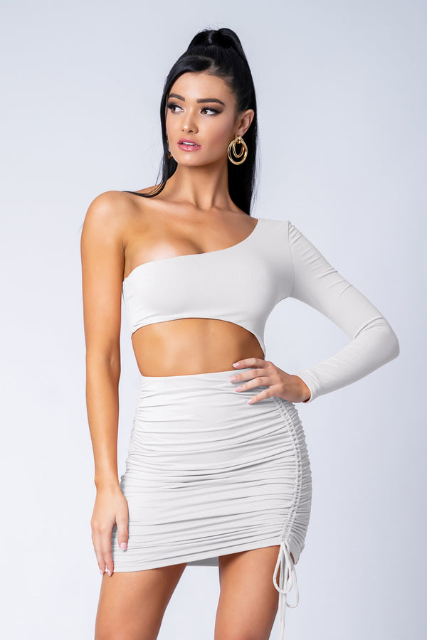 ORIANA DRESS WHITE