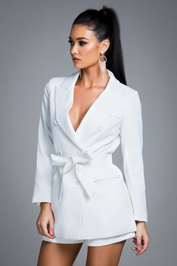 CHLOE BLAZER JACKET WHITE
