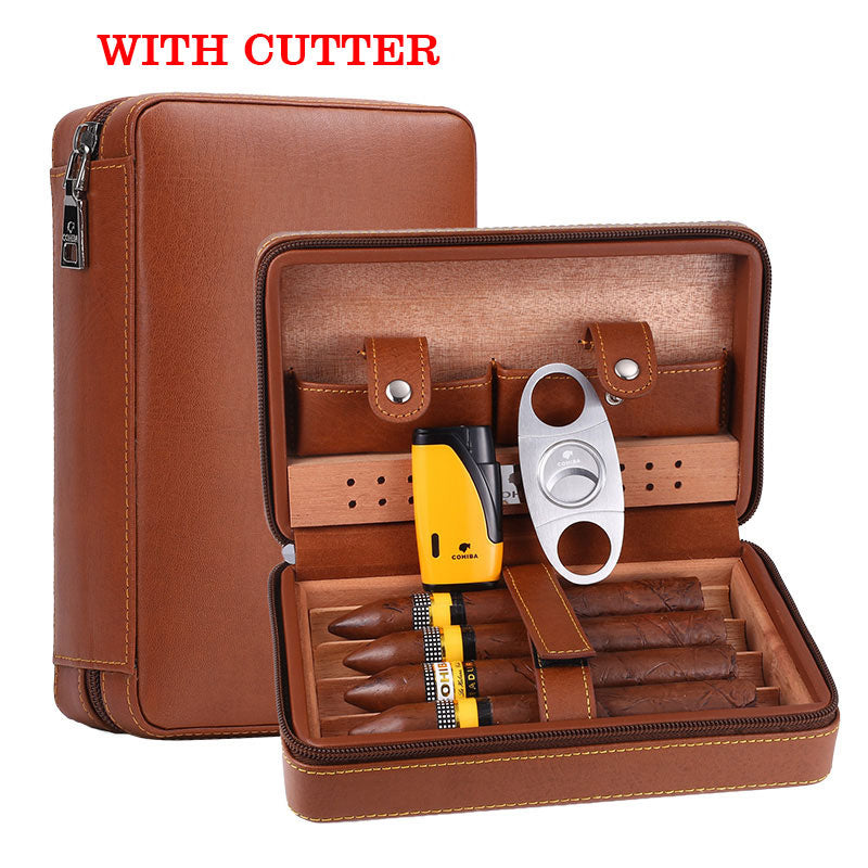 Portable Leather Humidor