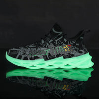 Fluorescent men's tennis shoes lightweight blade sneakers