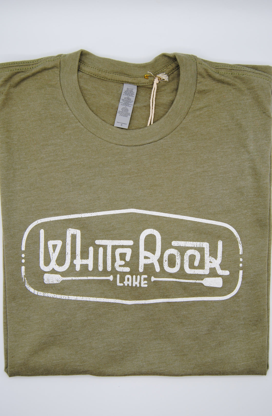 Crew-Neck White Rock Lake Short Sleeve Shirt