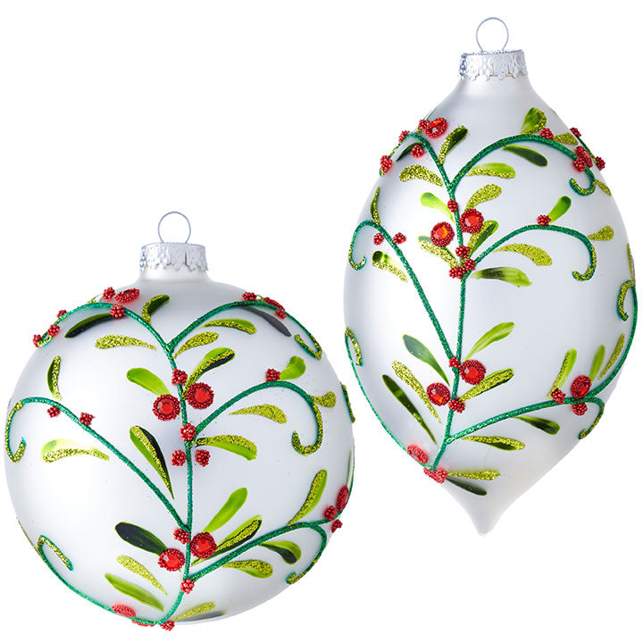 Glass Mistletoe Ornament