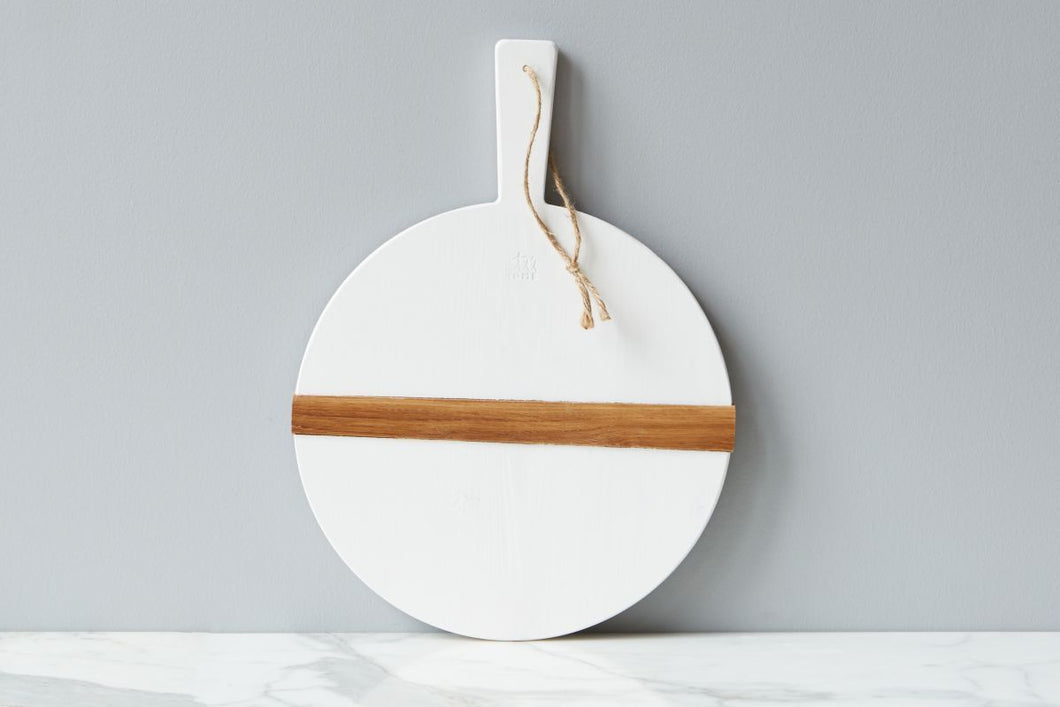 White Round Charcuterie Board - Small