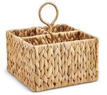 Load image into Gallery viewer, Water Hyacinth Sectional Caddy Hand-Crafted