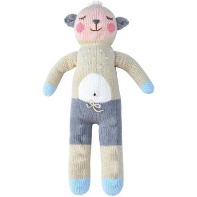 Knitted Rattle Wooly the Sheep