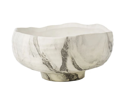 Fumé Bowl Black/White Marbleized