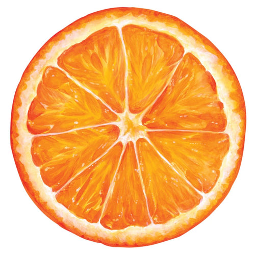 Die Cut Orange Slice Placemat