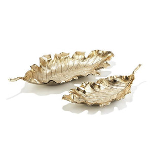 Champagne Leaf Decorative Trays