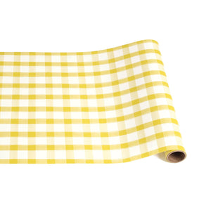 "Yellow Painted Check Runner - 20"" x 25"""