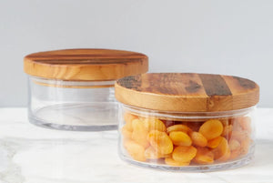 Wood Top Canister