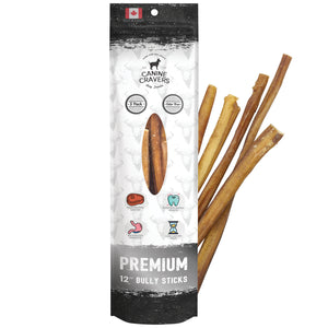 "Premium Beef 12"" Inch Bully Stick Pack of 5"