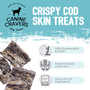 Crispy Cod Skins 4 oz Bag