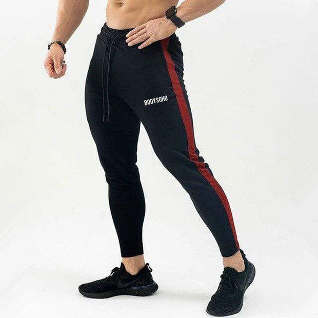 Gym accessories online pants M / Black red Breathable Joggers Skinny-fit