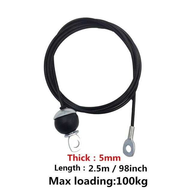 Gym Accessories Online 2.5m Cable Machine Attachments Tricep Rope D-Handle Cable Pully Optional for Gym Fitness Equipment Weight Lifting Workout Accessories