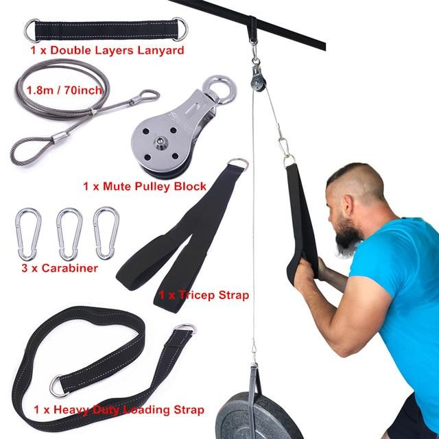 Gym Accessories Online as picture shows 17 Cable Machine Attachments Tricep Rope D-Handle Cable Pully Optional for Gym Fitness Equipment Weight Lifting Workout Accessories