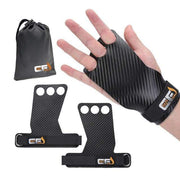 Gym accessories online Gym equipment Black Grips with Bag / Small Carbon Deadlifting Hand Grip with Palm Protection