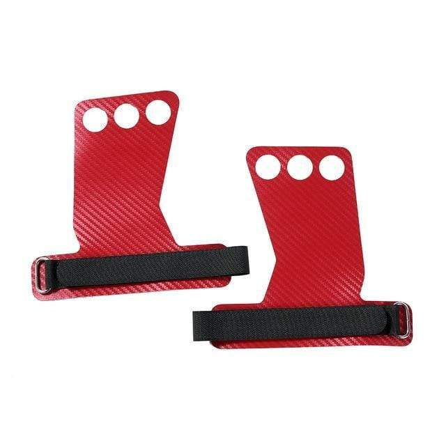 Gym accessories online Gym equipment Red / Small Carbon Deadlifting Hand Grip with Palm Protection