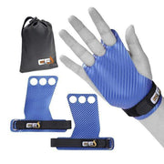 Gym accessories online Gym equipment Blue Grips with Bag / Large Carbon Deadlifting Hand Grip with Palm Protection