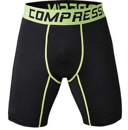 Gym Accessories Online shorts Black and Yellow / S Compression Short Tights for Fitness & Jogging