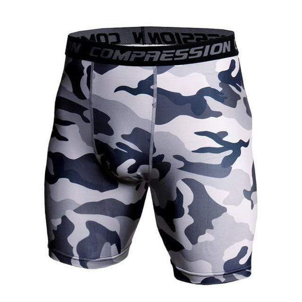 Gym Accessories Online shorts Grey Camo / S Compression Short Tights for Fitness & Jogging