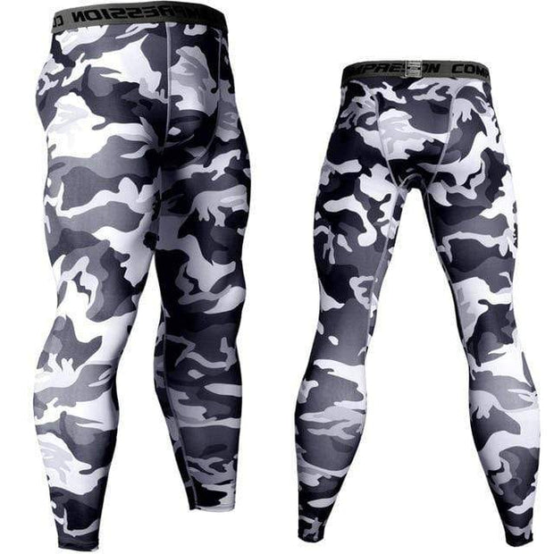 Gym accessories online Tights Grey Camo / S Compression Tights for Fitness & Jogging