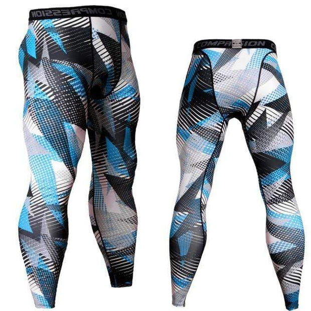 Gym accessories online Tights Blue Neon / S Compression Tights for Fitness & Jogging