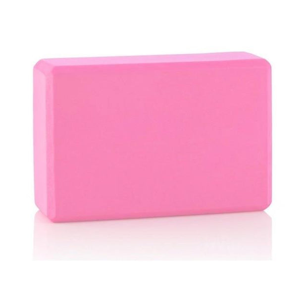 Gym Accessories Online Pink Eva Foam Yoga Block / Brick