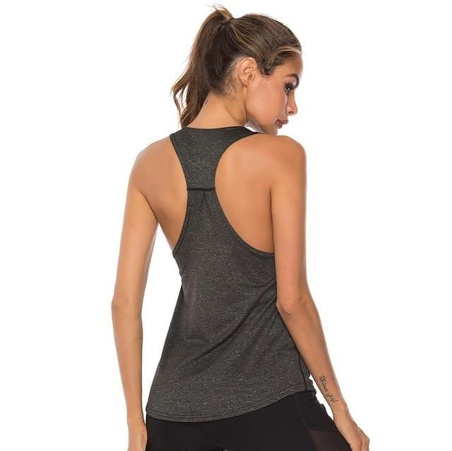 Gym accessories online tank top Grey / L Fitness Yoga Sleeveless Tank Top