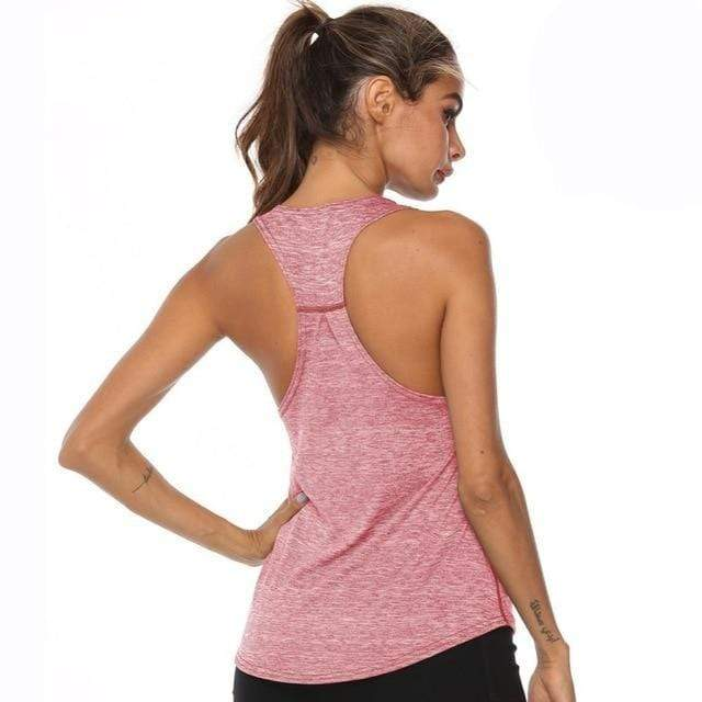Gym accessories online tank top Pink / L Fitness Yoga Sleeveless Tank Top